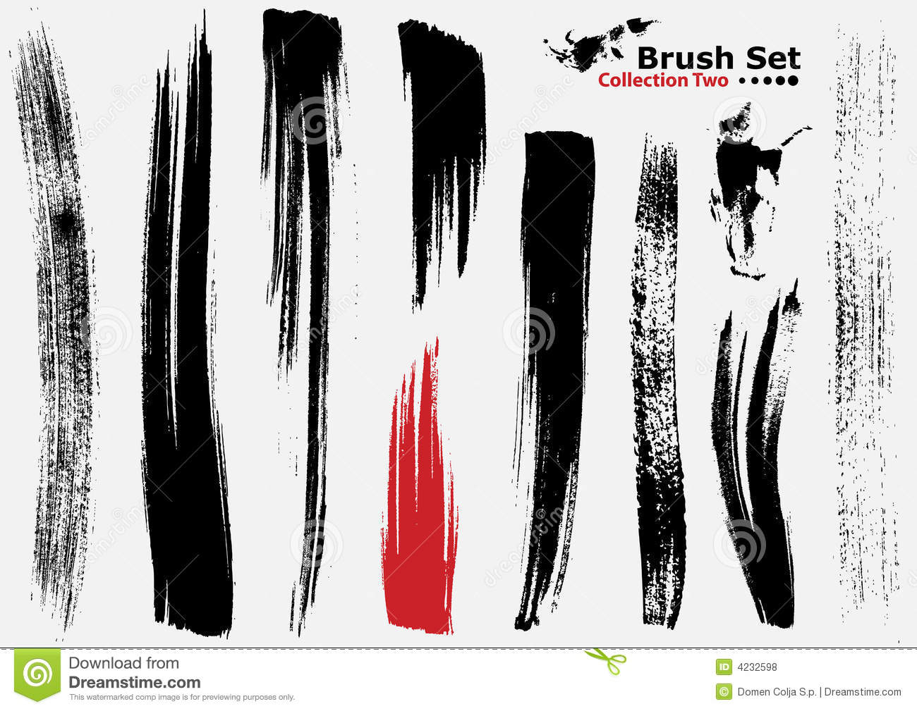 Collection Of Highly Detailed Vector Brushes - 2 Royalty