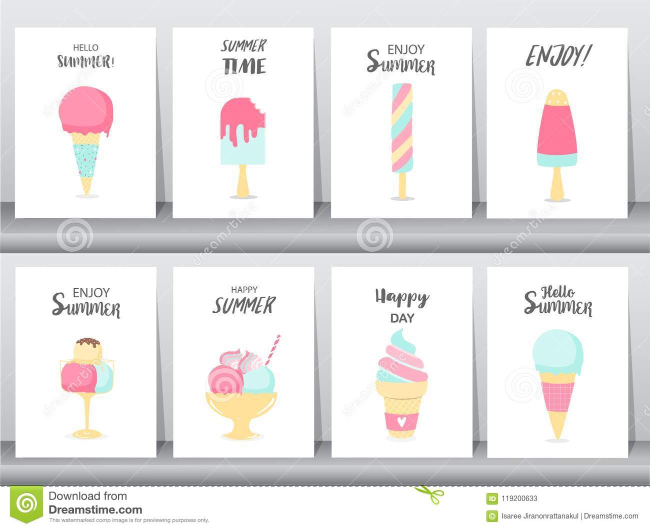 Collection Of Ice Cream Invitation Card Happy National Ice