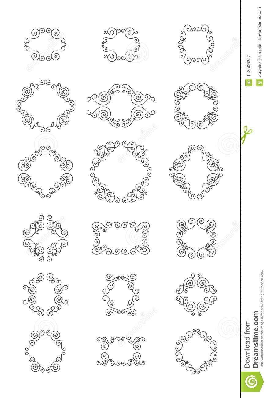 Sunburst Frame Collection stock vector. Illustration of isolated ...