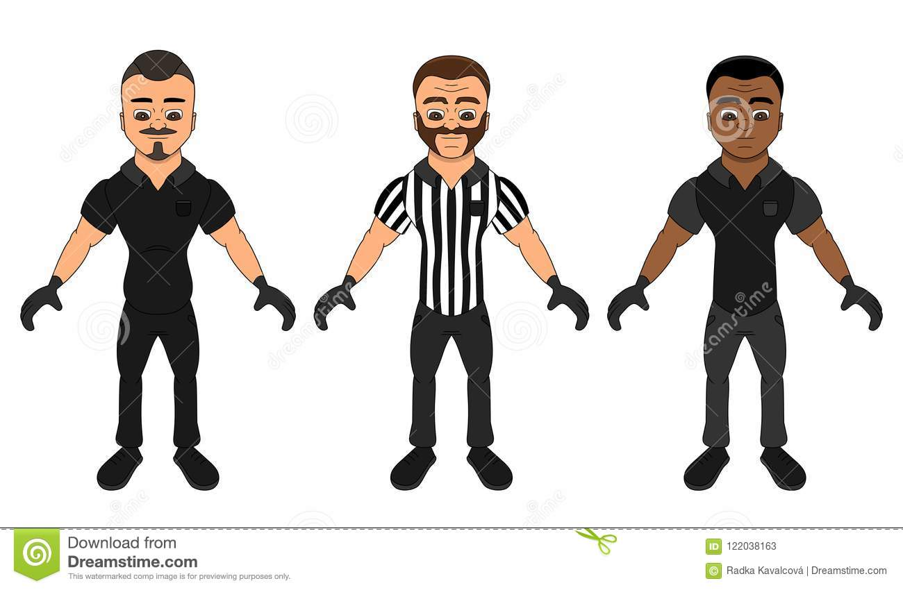Cartoon referees - a collection