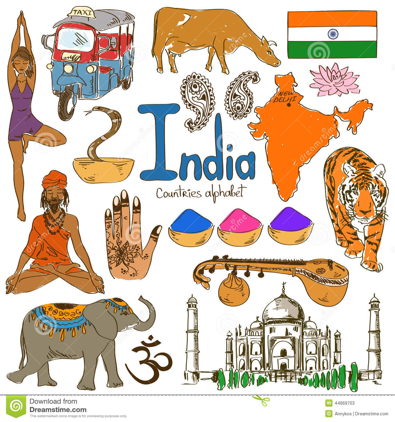 Stock Illustration Collection India Icons Fun Colorful Sketch Countries Alphabet Image44669703 on cobra 19 xs