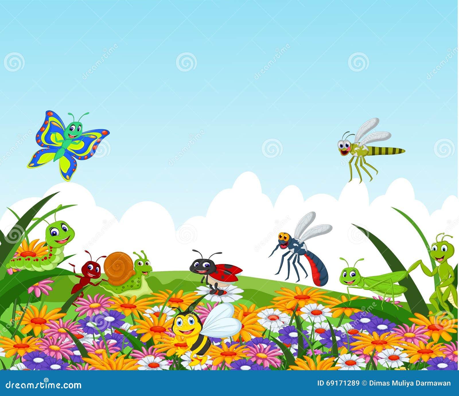 Flower garden cartoon - Collection Flower Garden Illustration