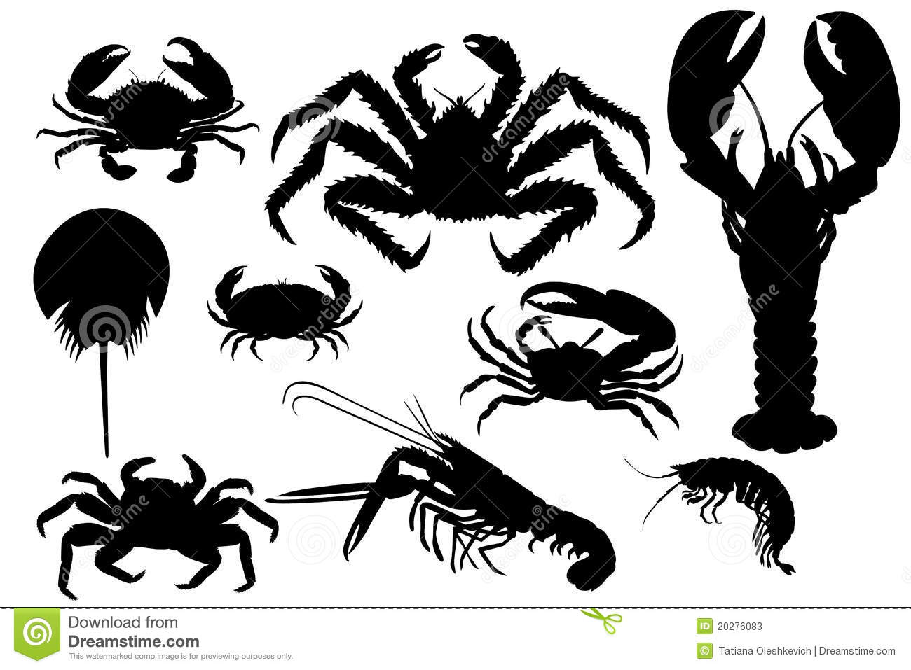 collection of isolated lobsters silhouette stock photos crawfish clipart svg crawfish clip art border