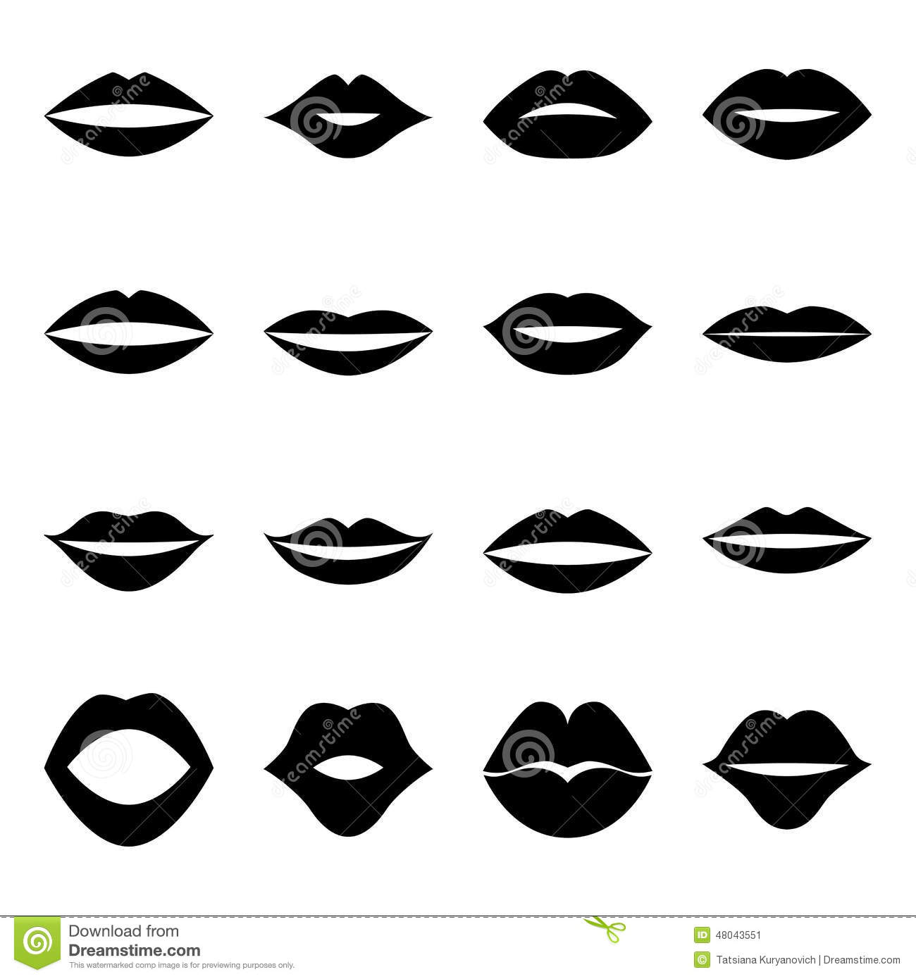 Fashion design contest 2017 - Collection Of Lips Illustration Stock Vector Image