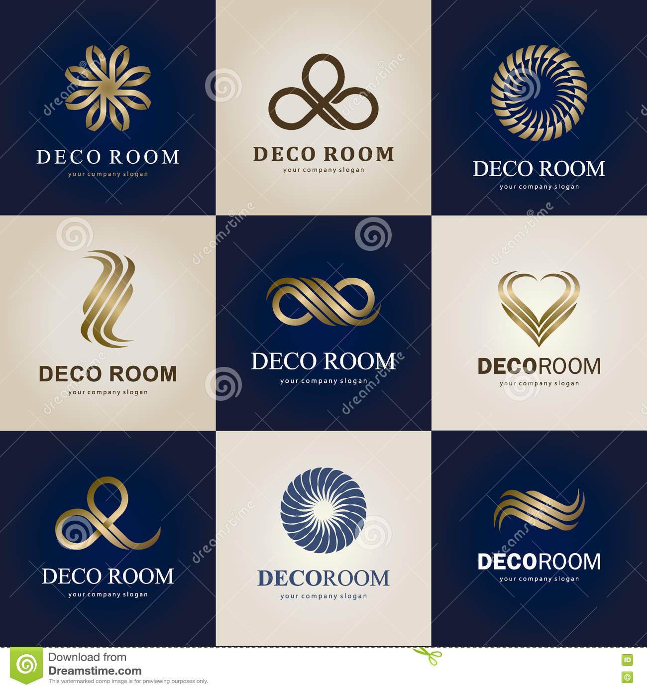 A Collection Of Logos For Interior Decor Items And Home Decoration