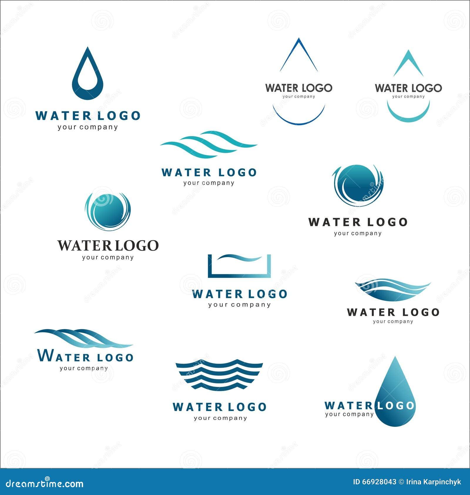 Water Logos Royalty Free Stock Photography - Image: 8489997