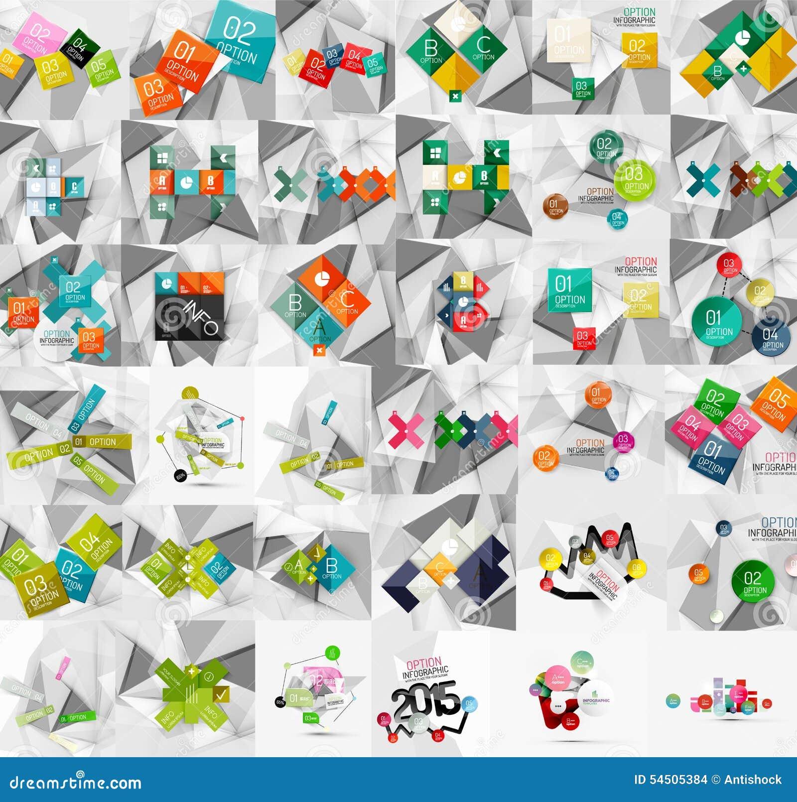 Collection méga de bannières de papier géométriques de style
