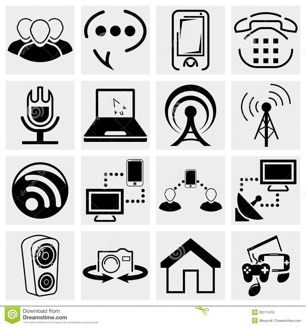 Royalty Free Stock Images Collection Media  munication Vector Icon Set Isolated Grey Background Eps File Available Image30111419 on tower radio network