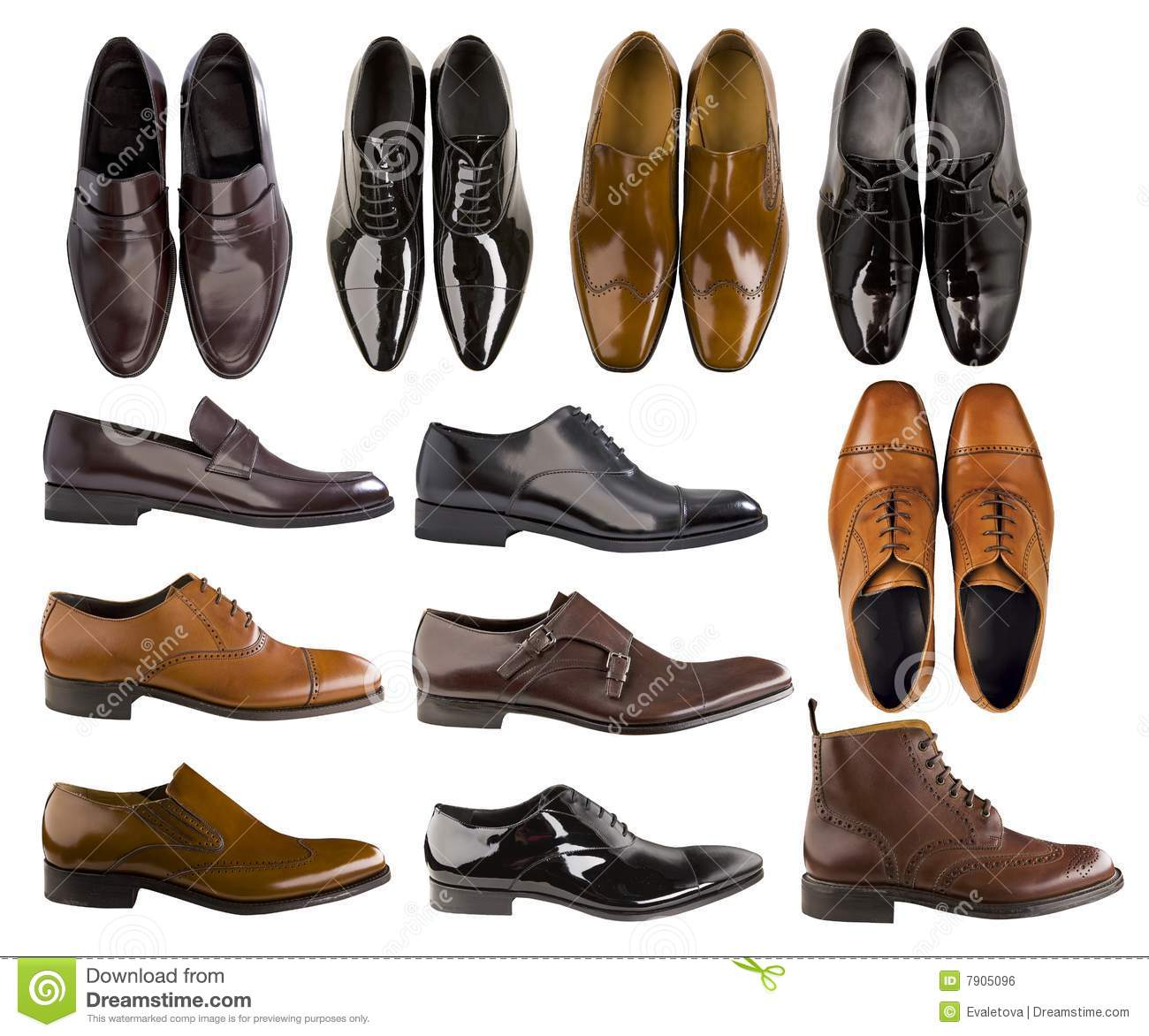 collection of shoes royalty free stock image image