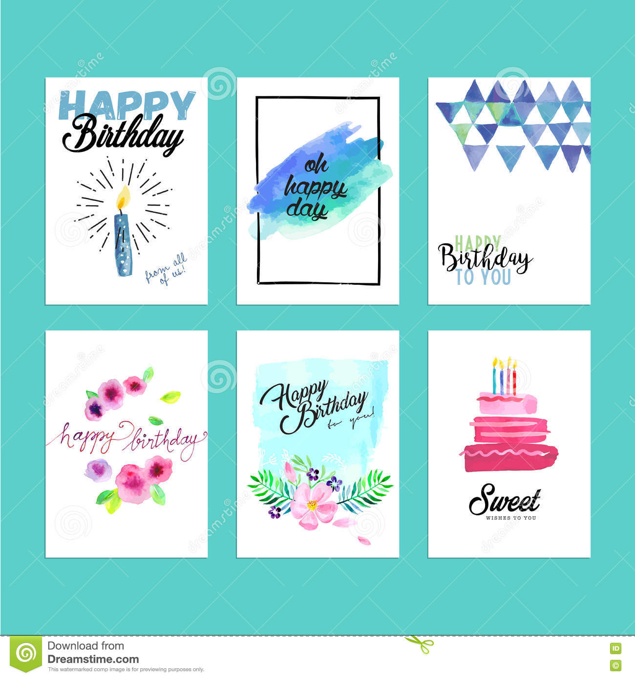 Collection Of Modern Design Birthday Greeting Cards – Website for Birthday Cards