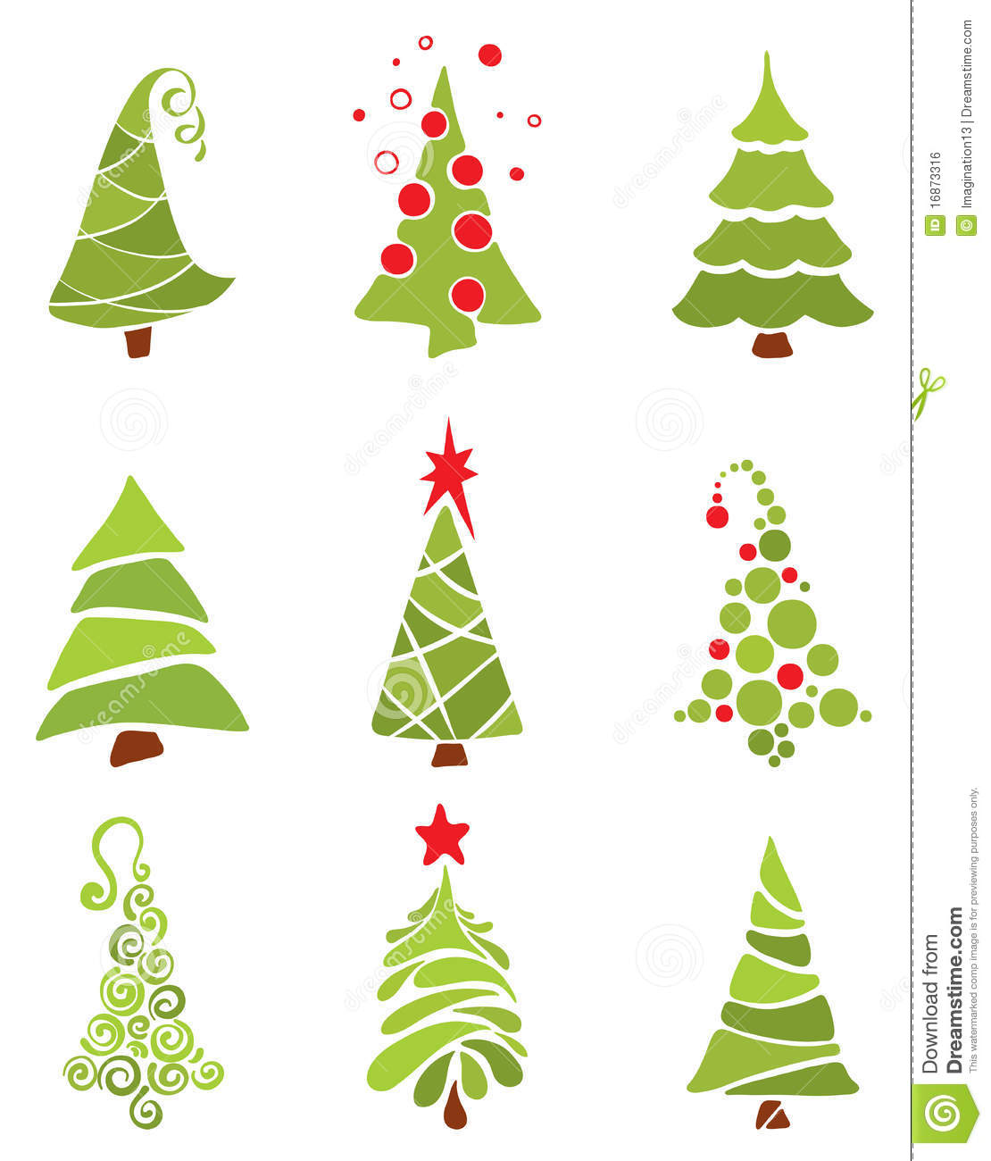 A Collection Of Modern Trees Stock Vector - Image: 16873316