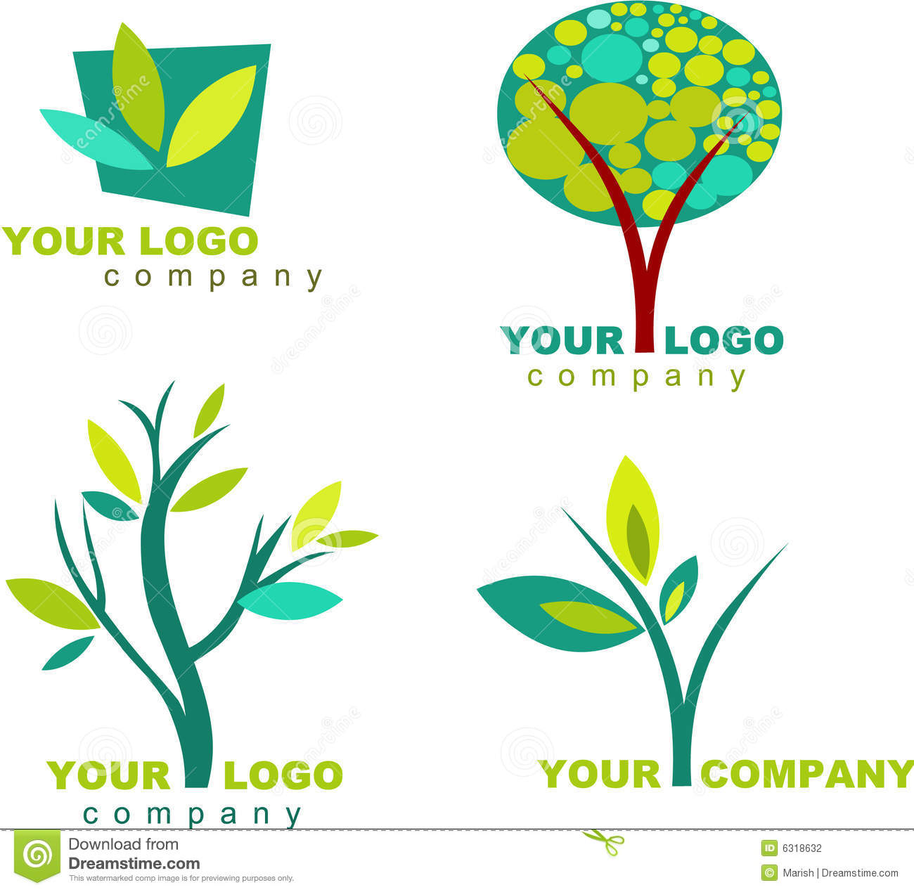 Collection Of Nature Logo - 3 Stock Vector - Image: 6318632