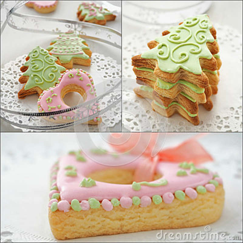 Collection Of Nice Christmas Biscuits Stock Image Image Of