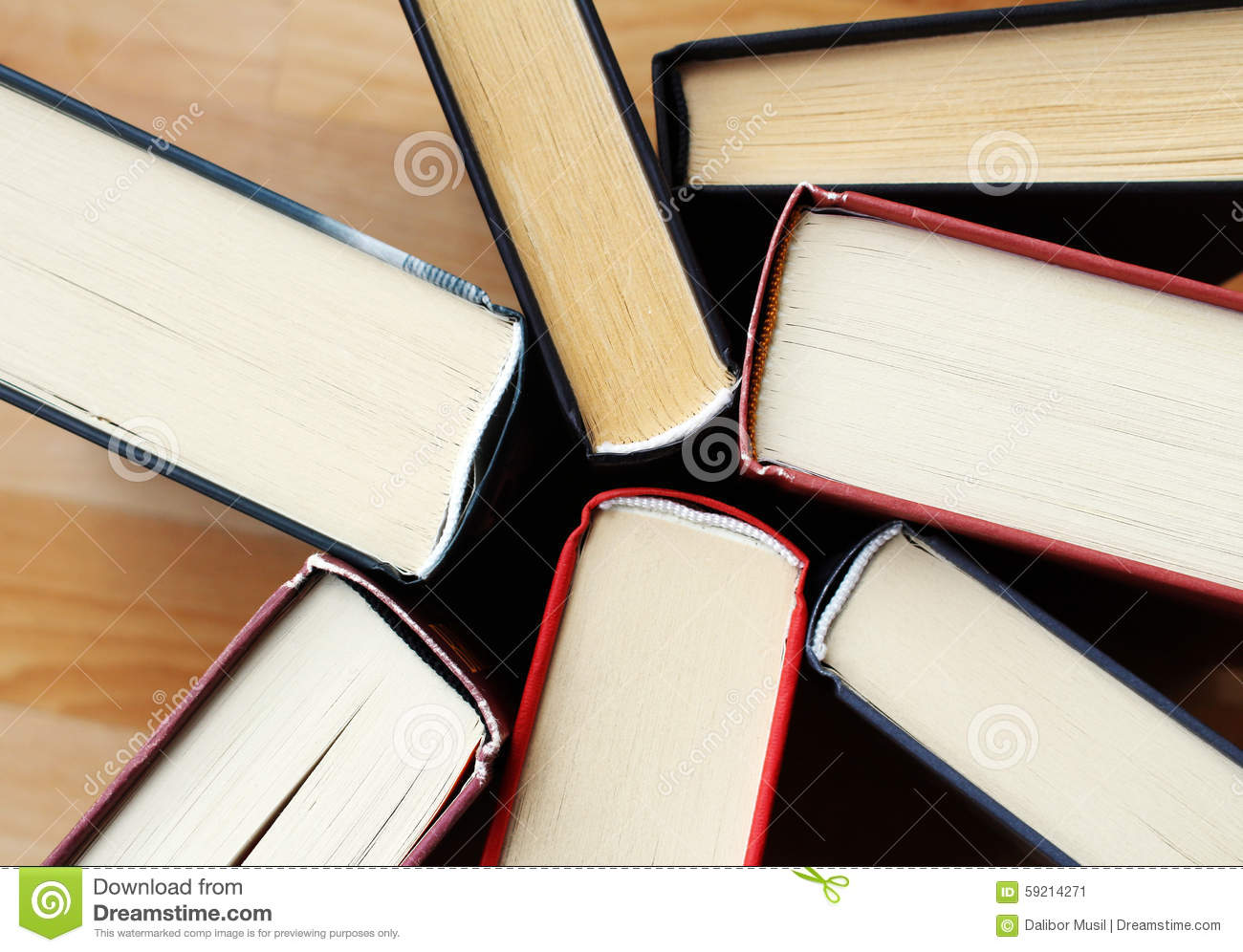 Collection of old literature books from library