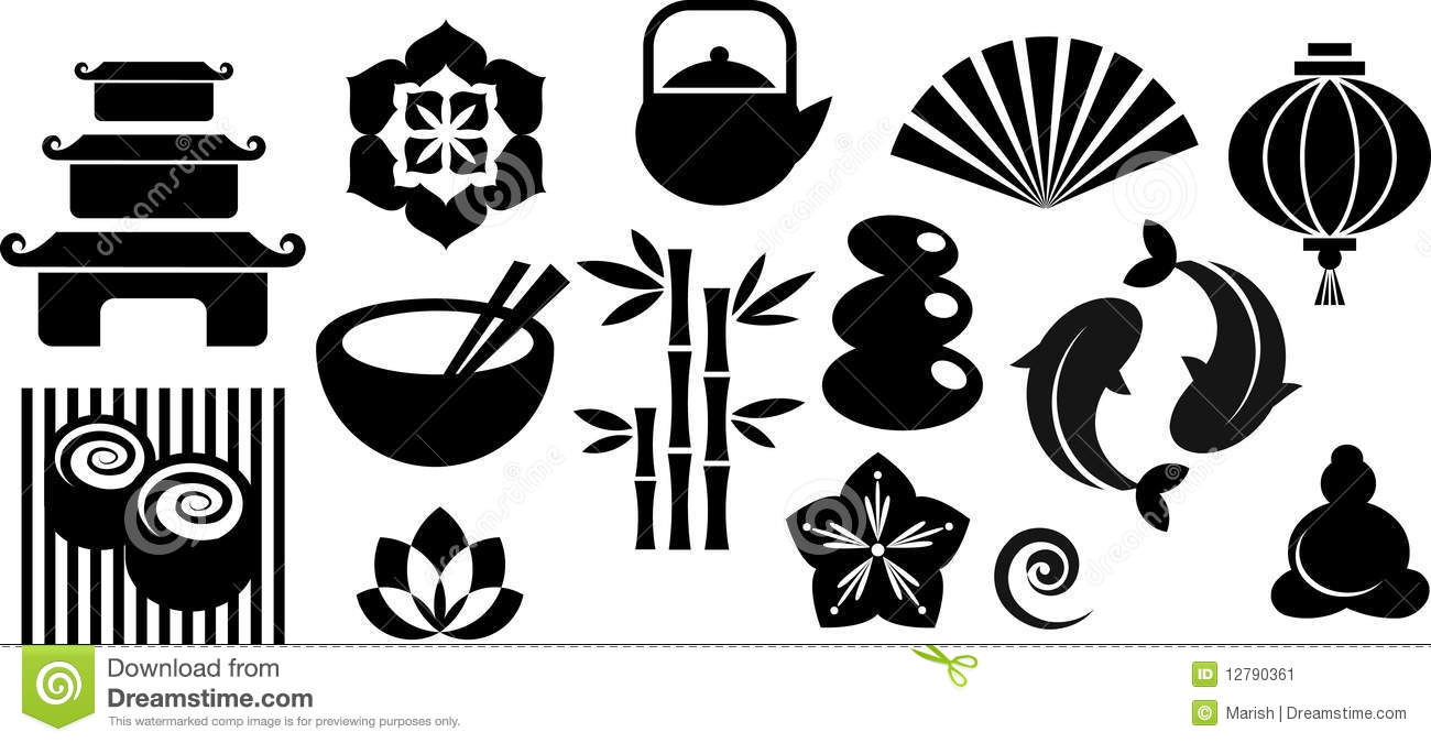 collection of oriental and zen icons and logos stock Yin Yang Transparent download yin yang symbol vector
