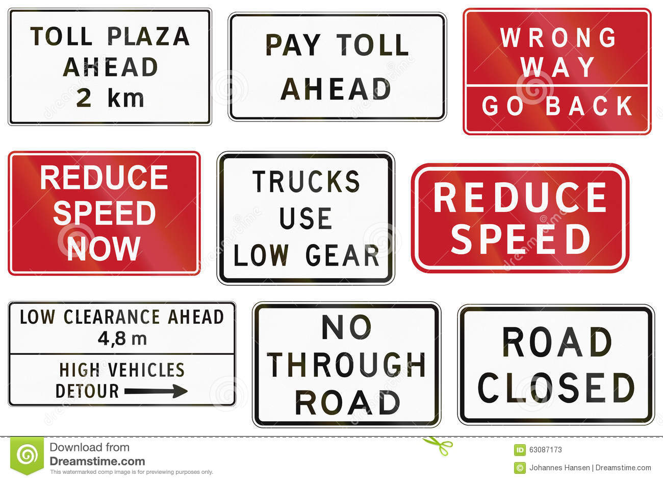 collection of philippine informational road signs stock collection of philippine informational road signs