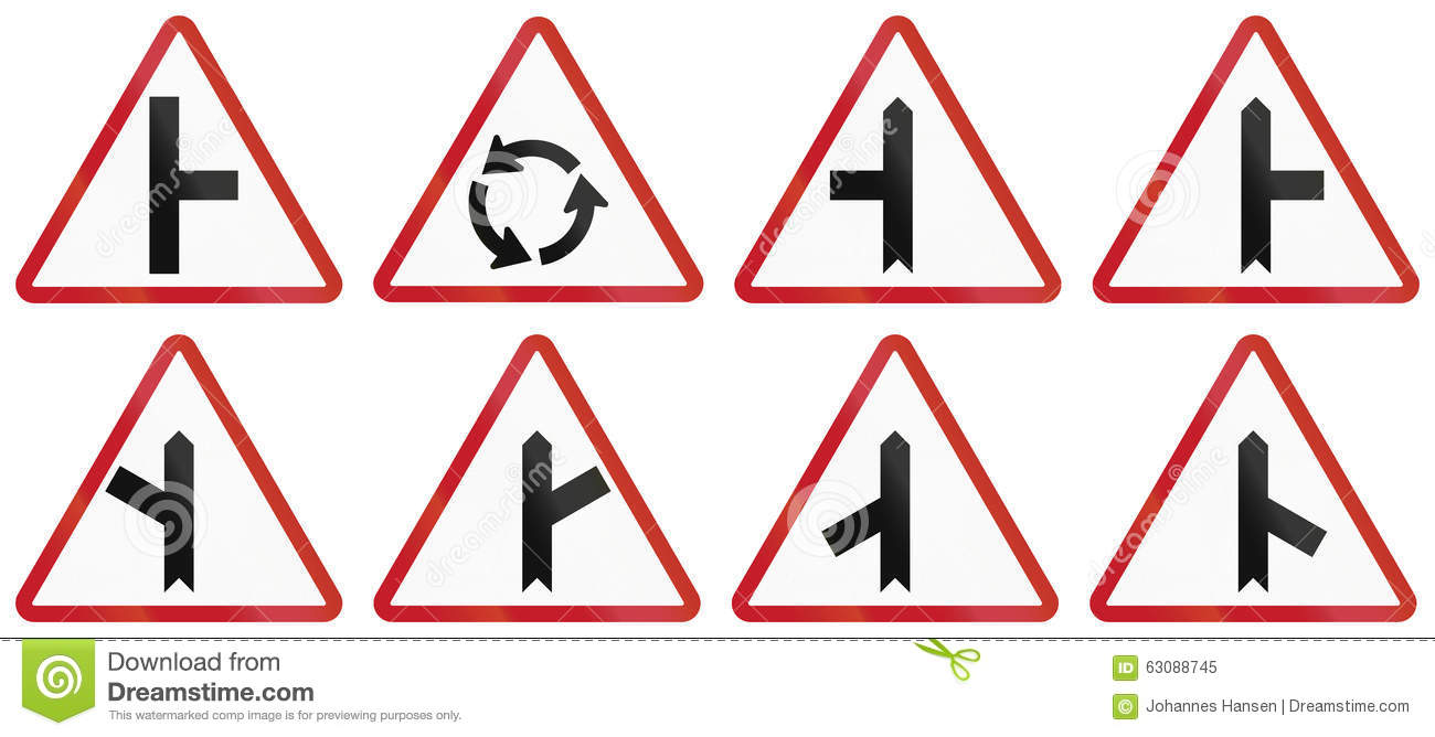 Collection of philippine warning road signs stock illustration collection of philippine warning road signs direction danger buycottarizona Image collections