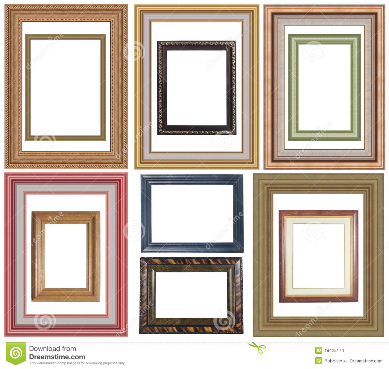 Collection Of Picture Frame Stock Photo - Image of frames ...