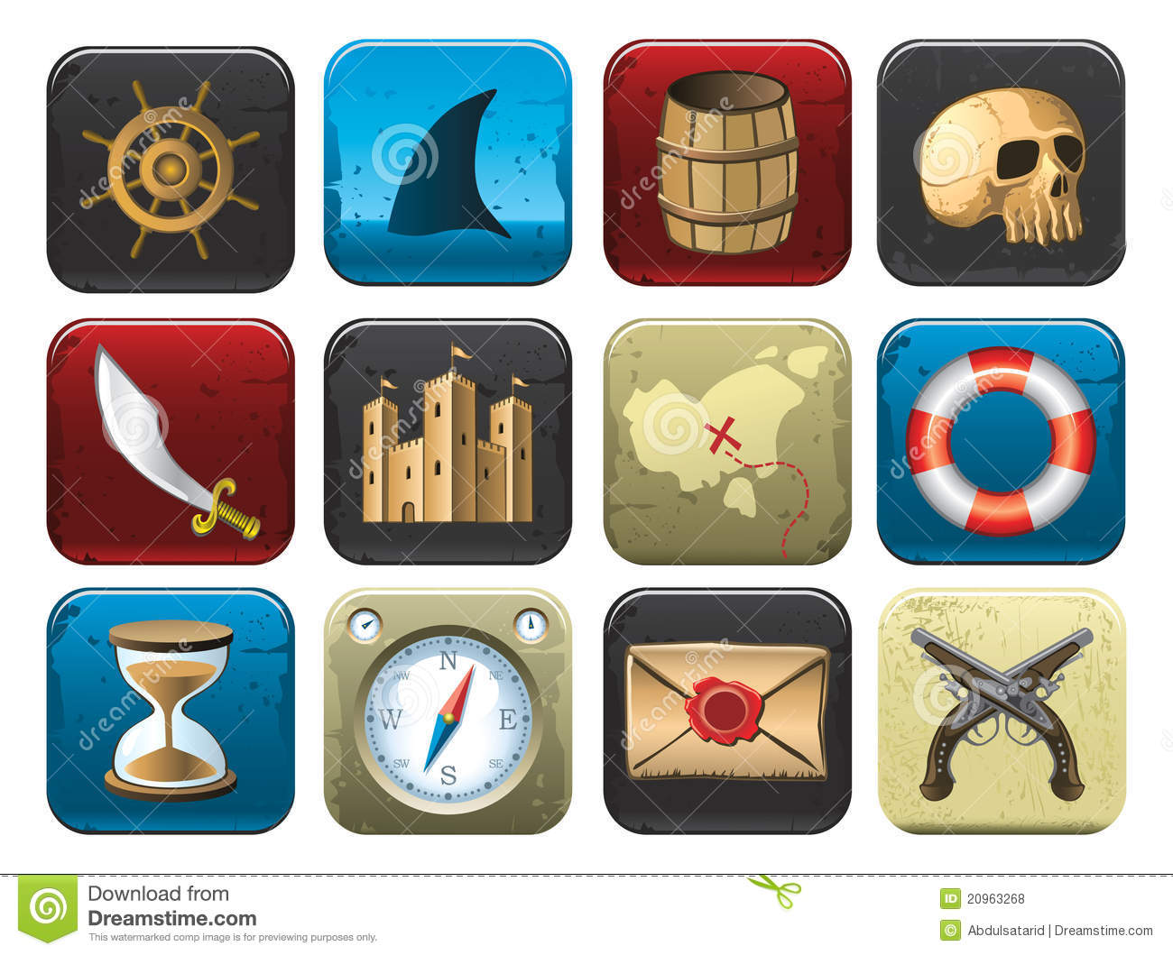 Collection Of Pirate Symbols Royalty Free Stock Photos ...  Treasure