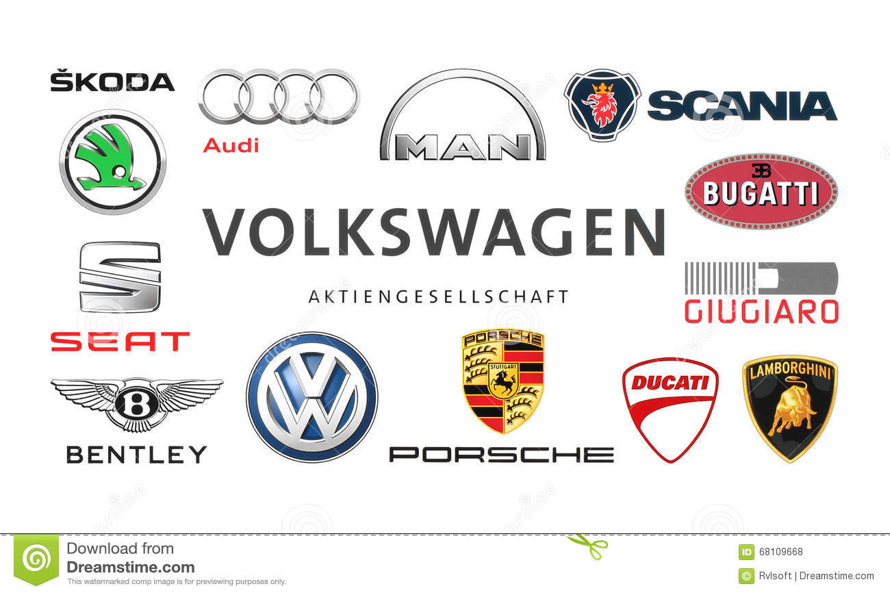 Collection Of Popular Car Logos Editorial Stock Photo Image Of
