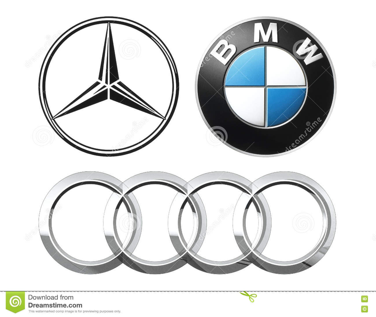 Collection Of Popular German Car Logos Editorial Image