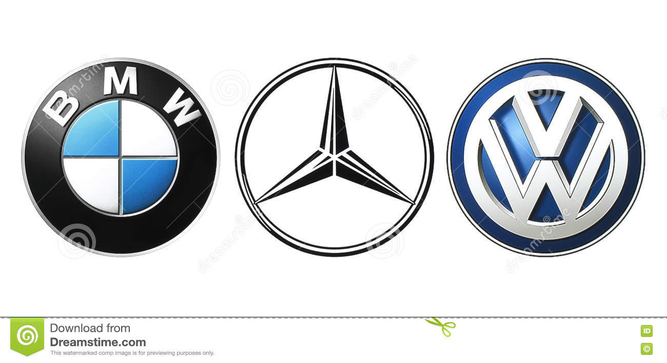 Collection Of Popular German Car Logos Editorial