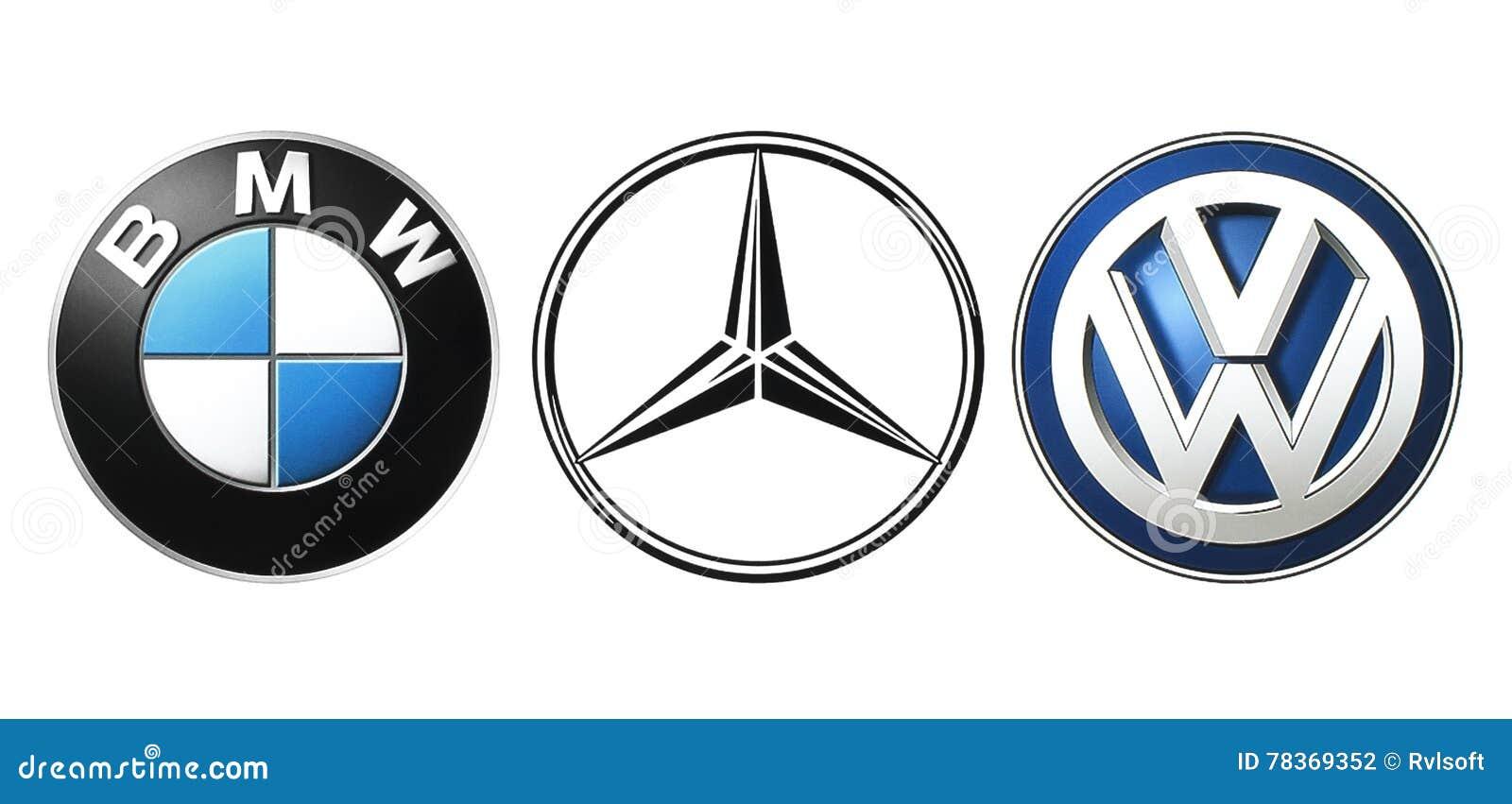 Collection Of Popular German Car Logos Editorial Photography