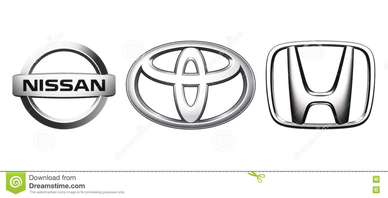 Download Collection Of Popular Japan Car Logos Editorial Stock Photo