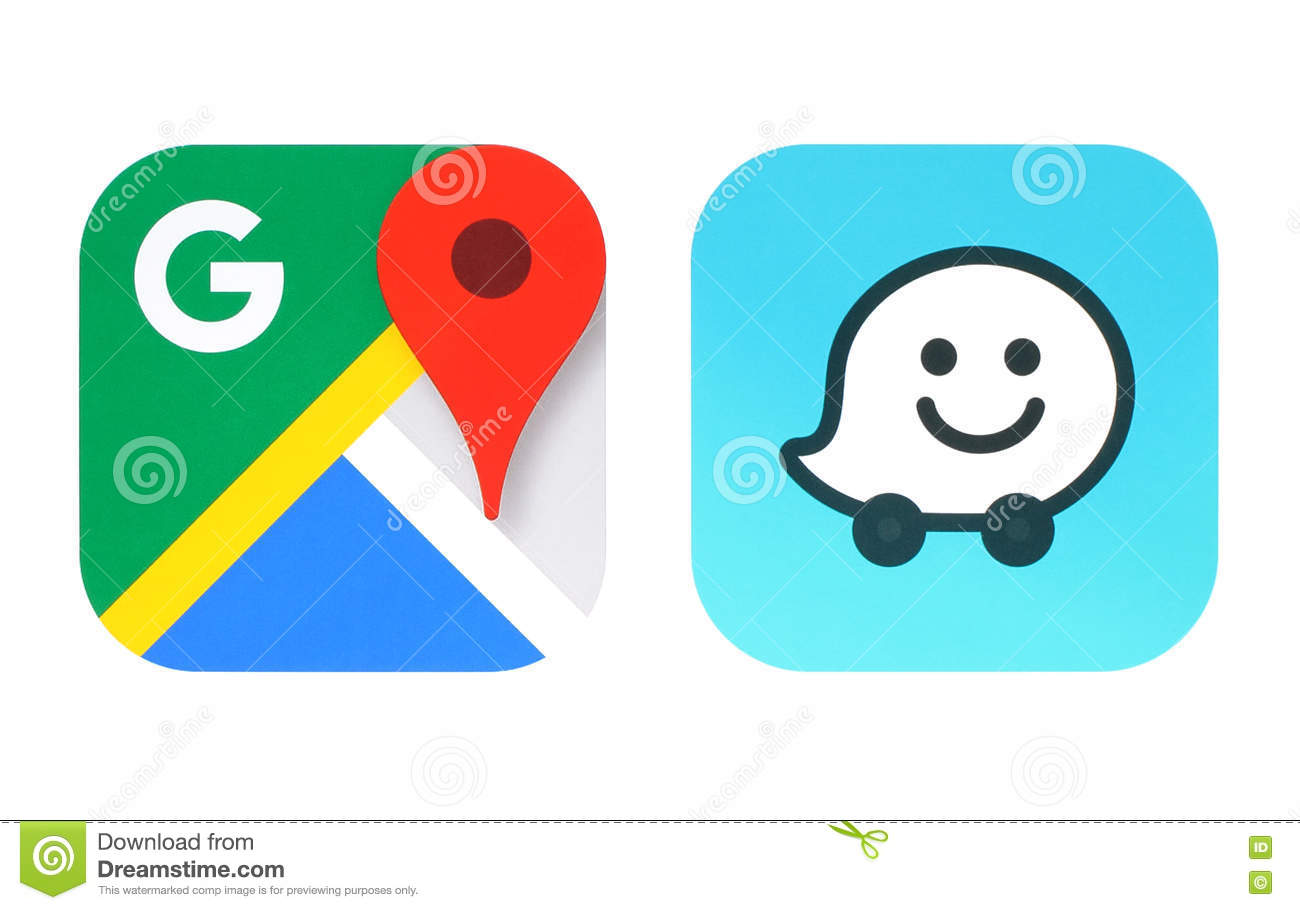 Collection Of Por Navigation Apps Icons Editorial Stock Image ... on