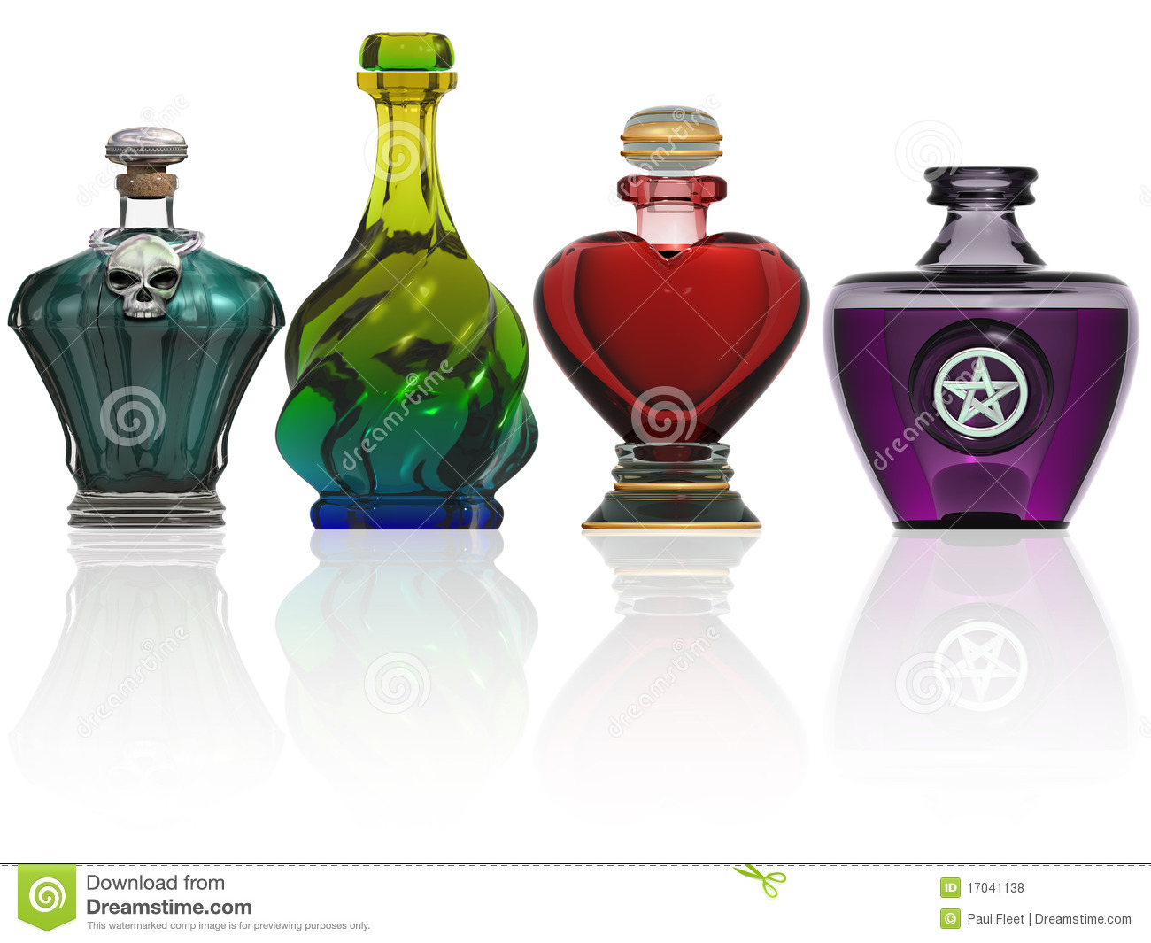 Collection Of Potion Bottles Royalty Free Stock Photos - Image ...
