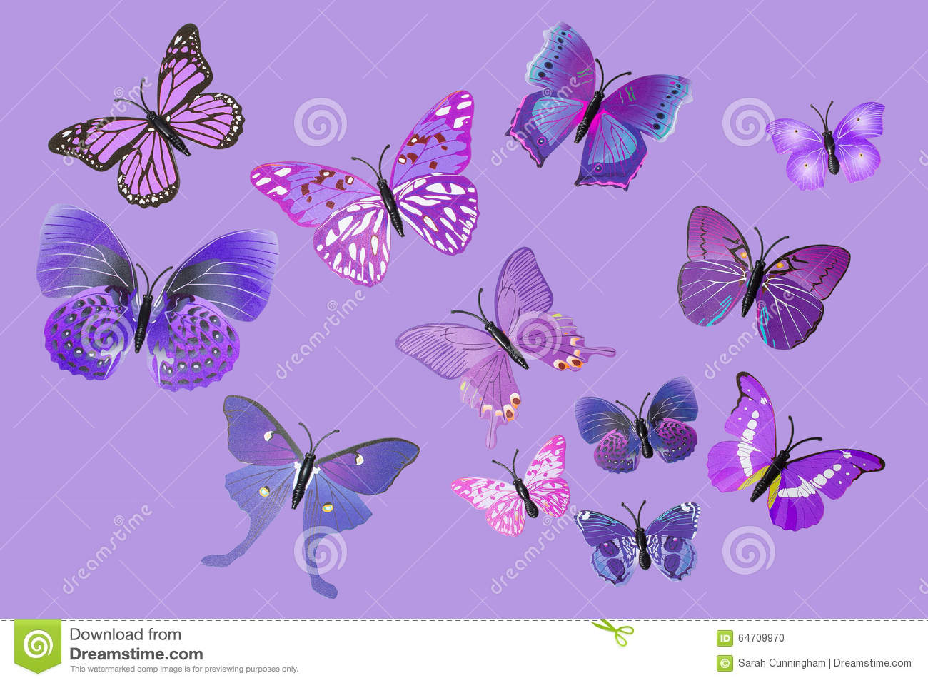 Fantasy butterflies purple - photo#19