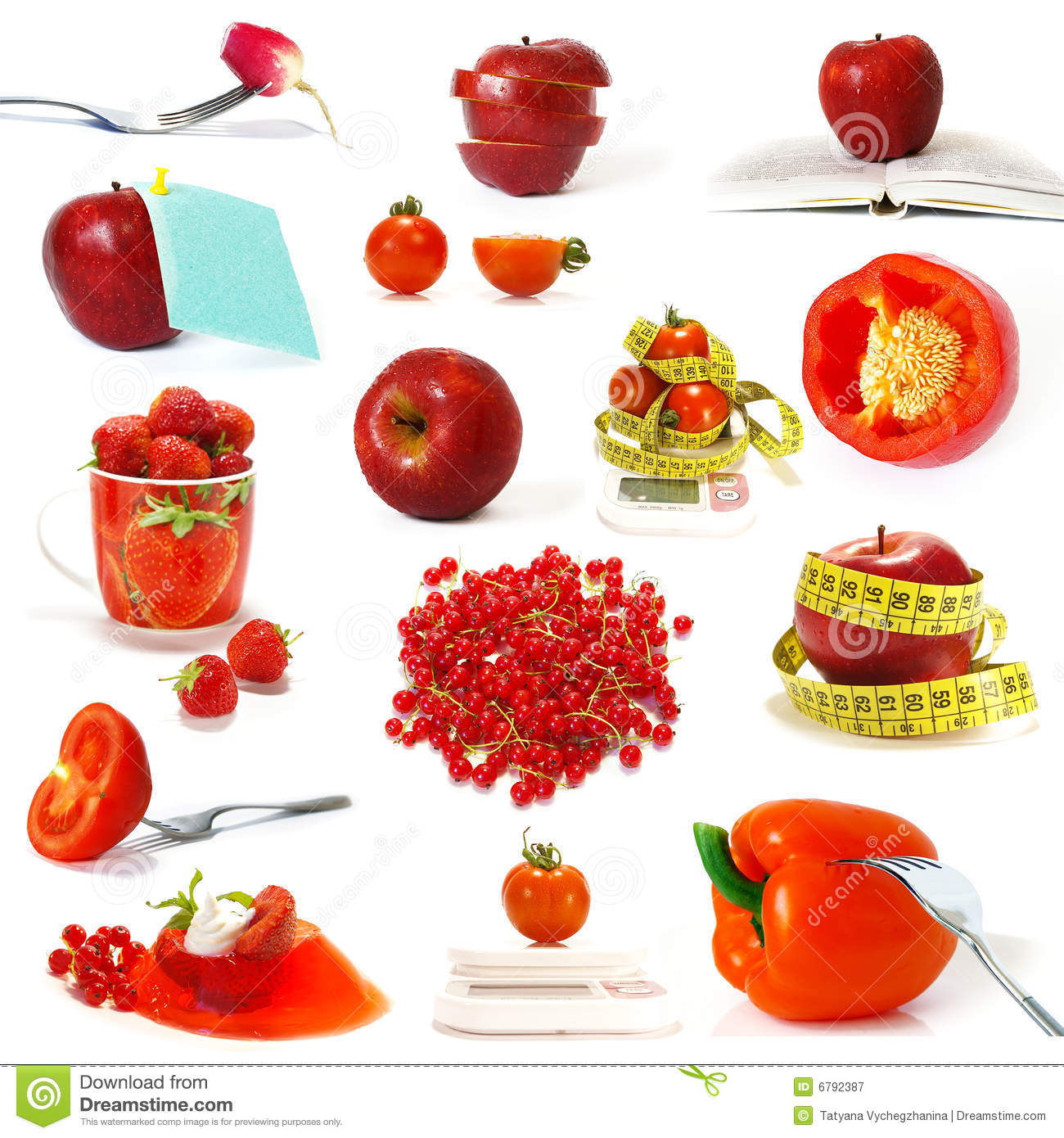 Collection Of Red Fruits And Vegetables Stock Image ... Red Fruits And Vegetables List