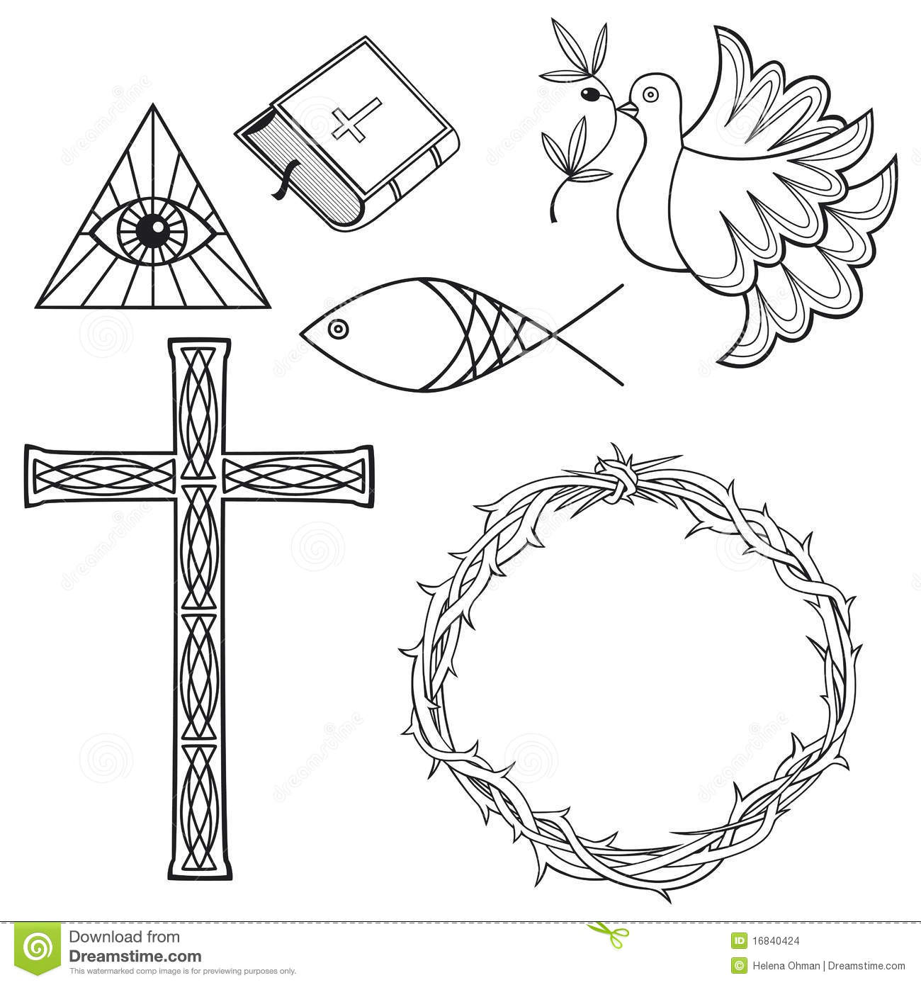 Stock Images Collection Religious Symbols Image16840424 on Electric Symbols And Meanings