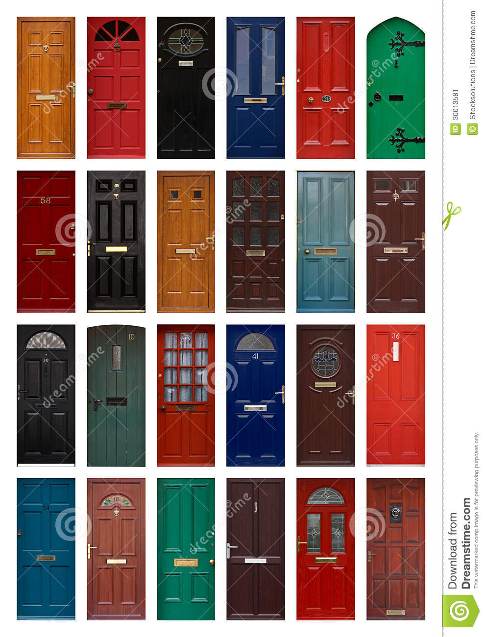 Isolated front doors stock image image 30013581 - Puertas principales ...
