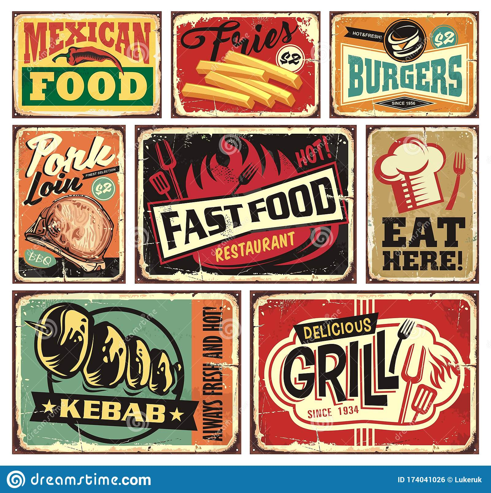 Vintage Fast Food Posters Collection Stock Illustrations 36 Vintage Fast Food Posters Collection Stock Illustrations Vectors Clipart Dreamstime