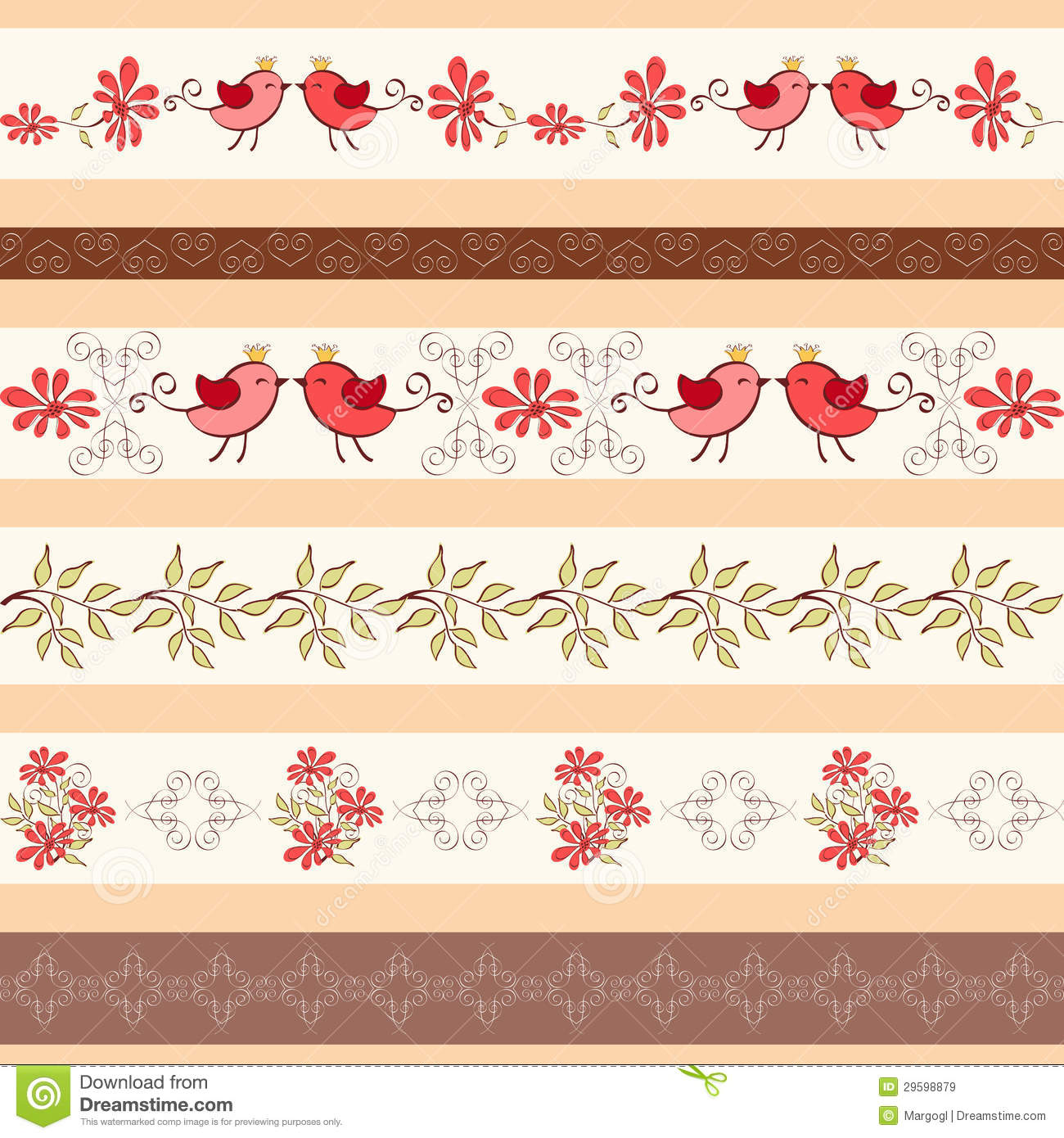 Collection For Scrapbook. Borders. Royalty Free Stock Images - Image ...