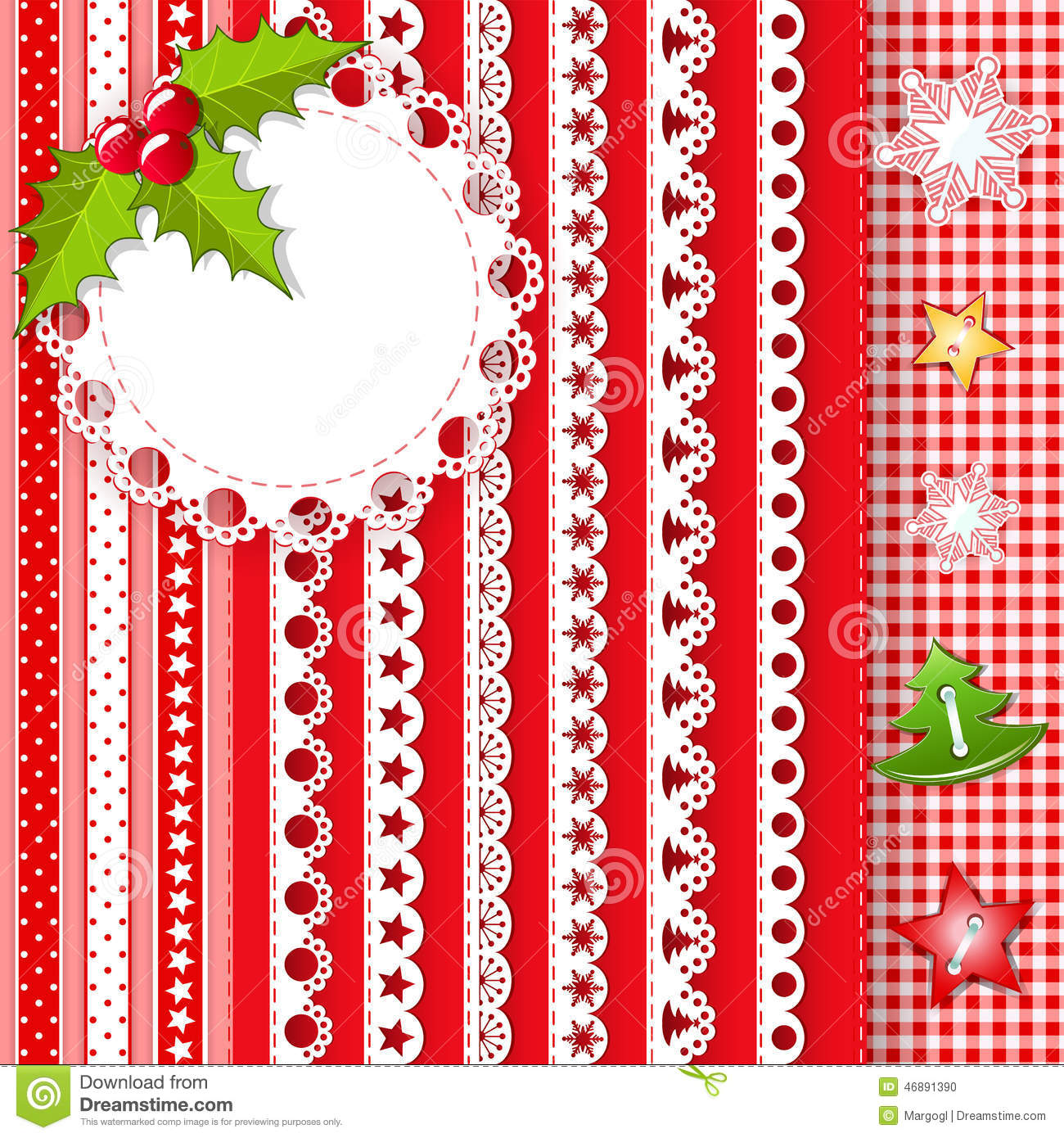Collection For Scrapbook Borders Stock Vector Illustration Of