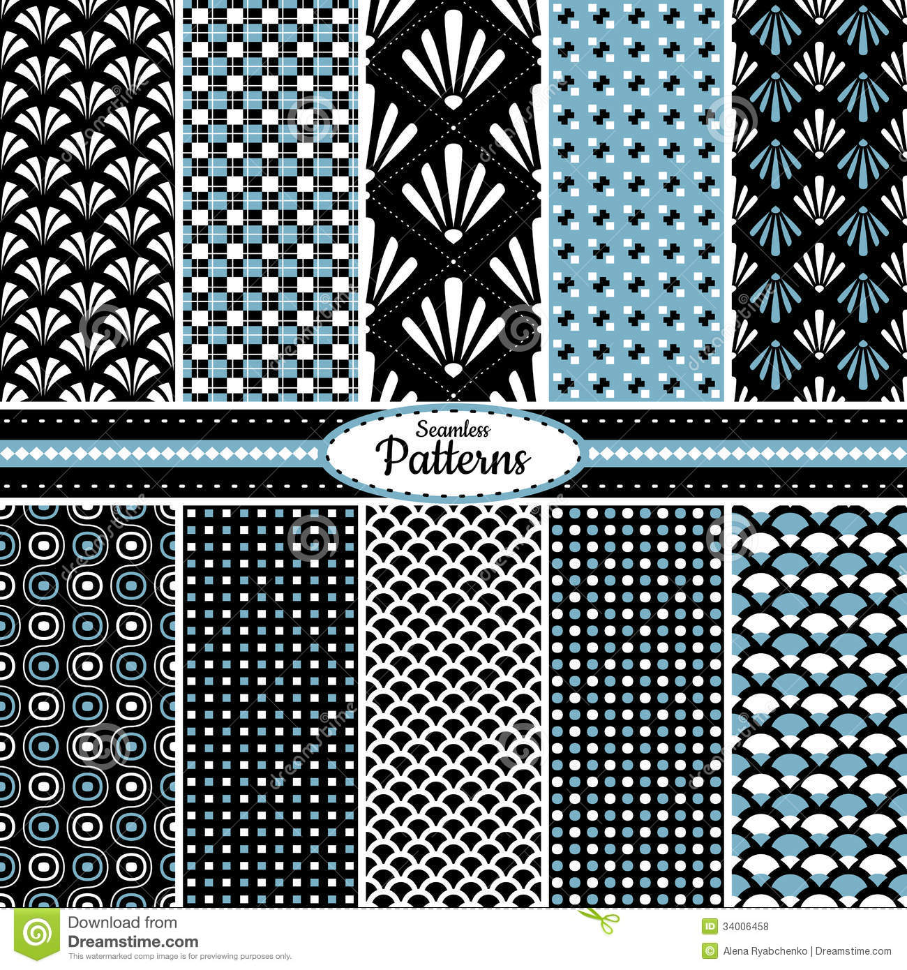 Collection Of Seamless Pattern Backgrounds Royalty Free