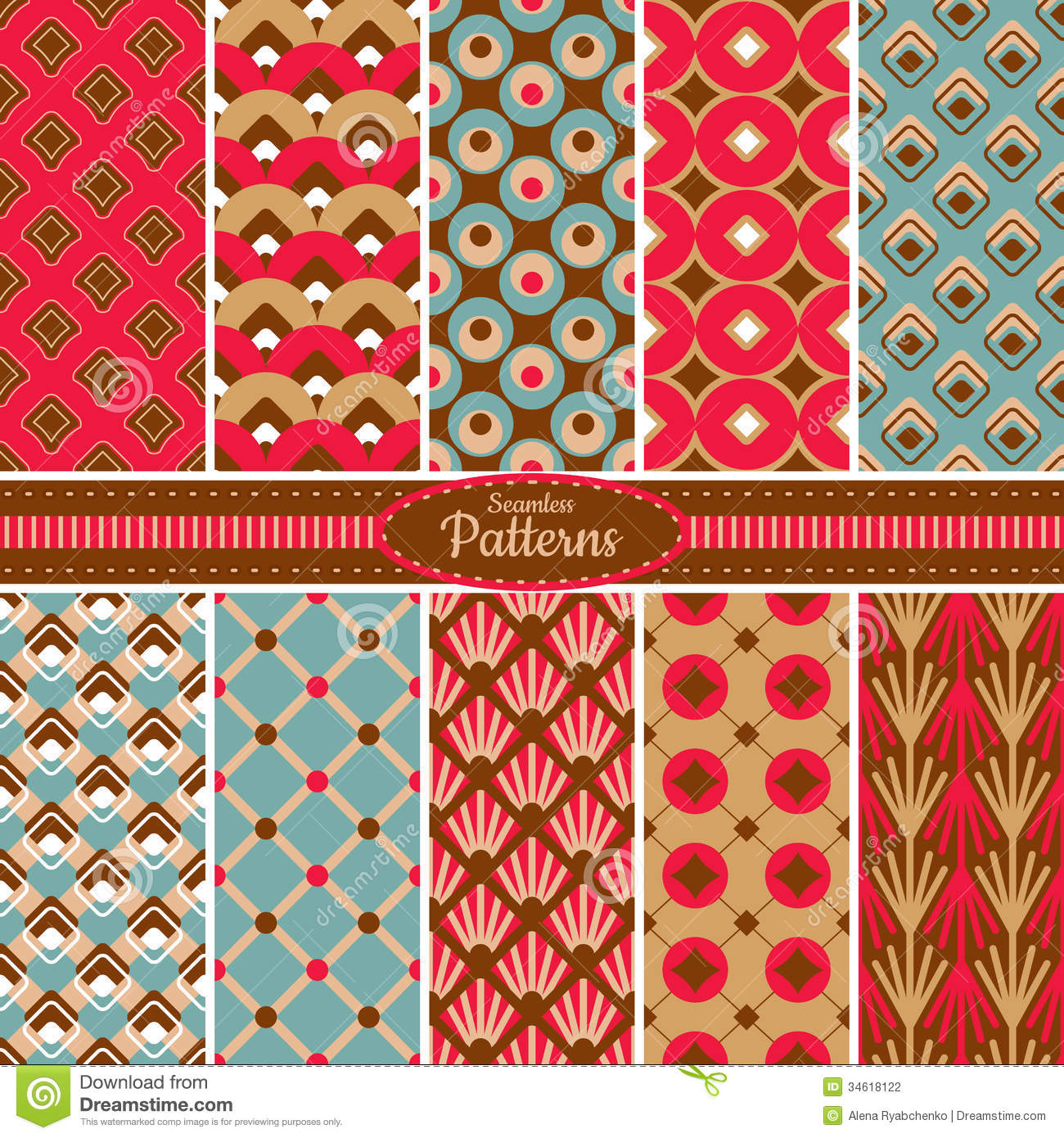 Collection of seamless pattern backgrounds stock vector for Wallpaper home pattern