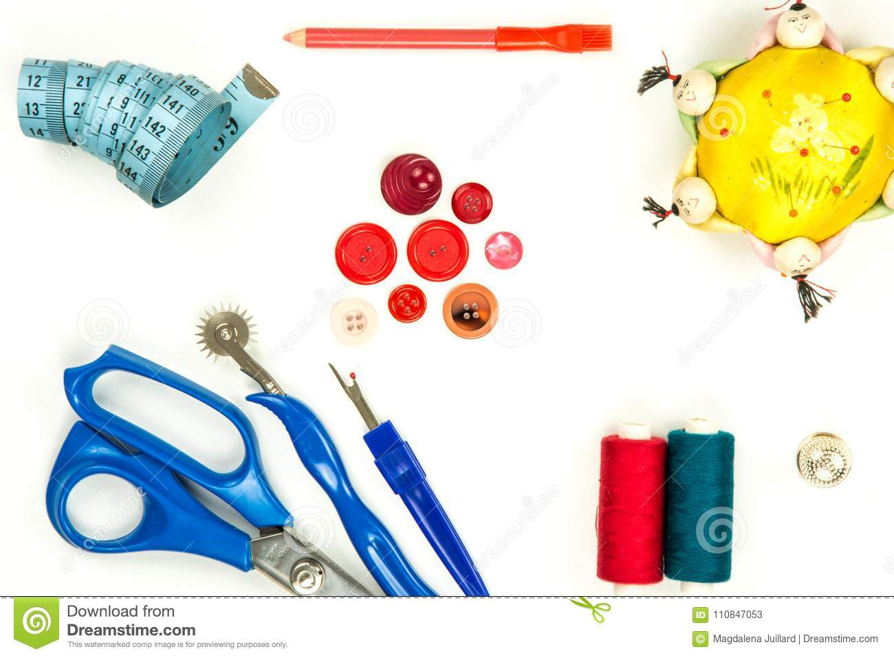 Collection of sewing items