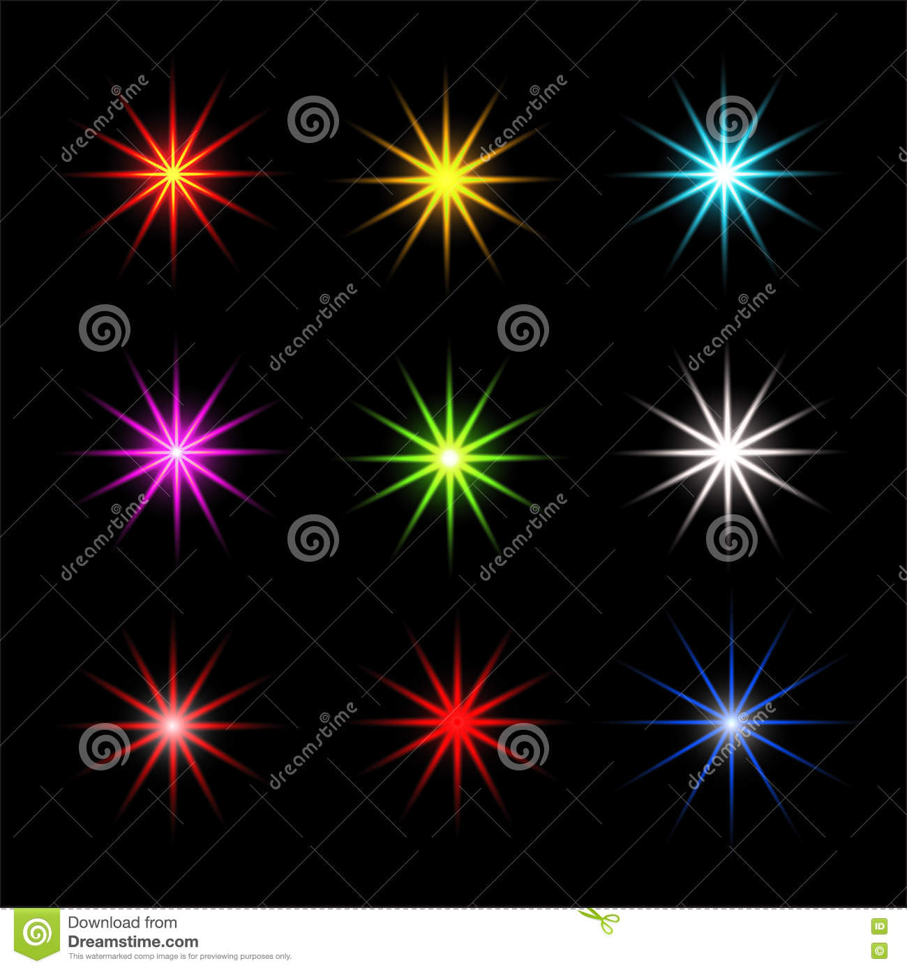 Collection Of Sparkle Vector Sparkles Colored Symbols Sparkle Star