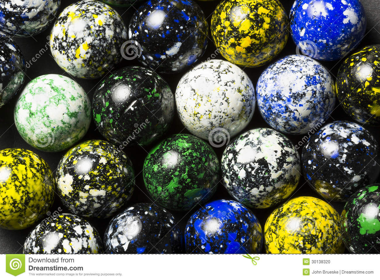 Speckled Marbles Stock Photo Image 30138320