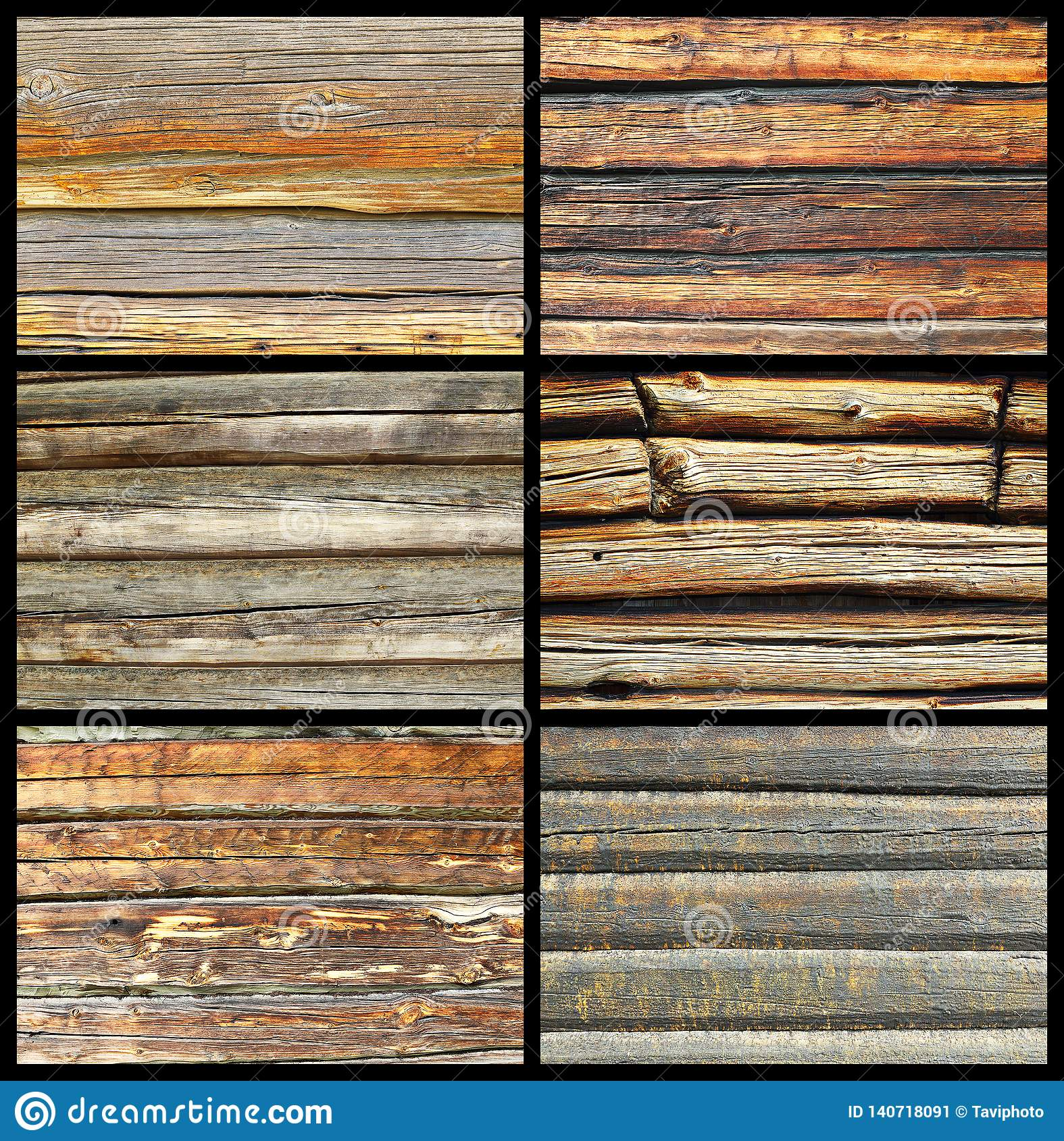 Collection Of Textured Wooden Walls Stock Image - Image of natural