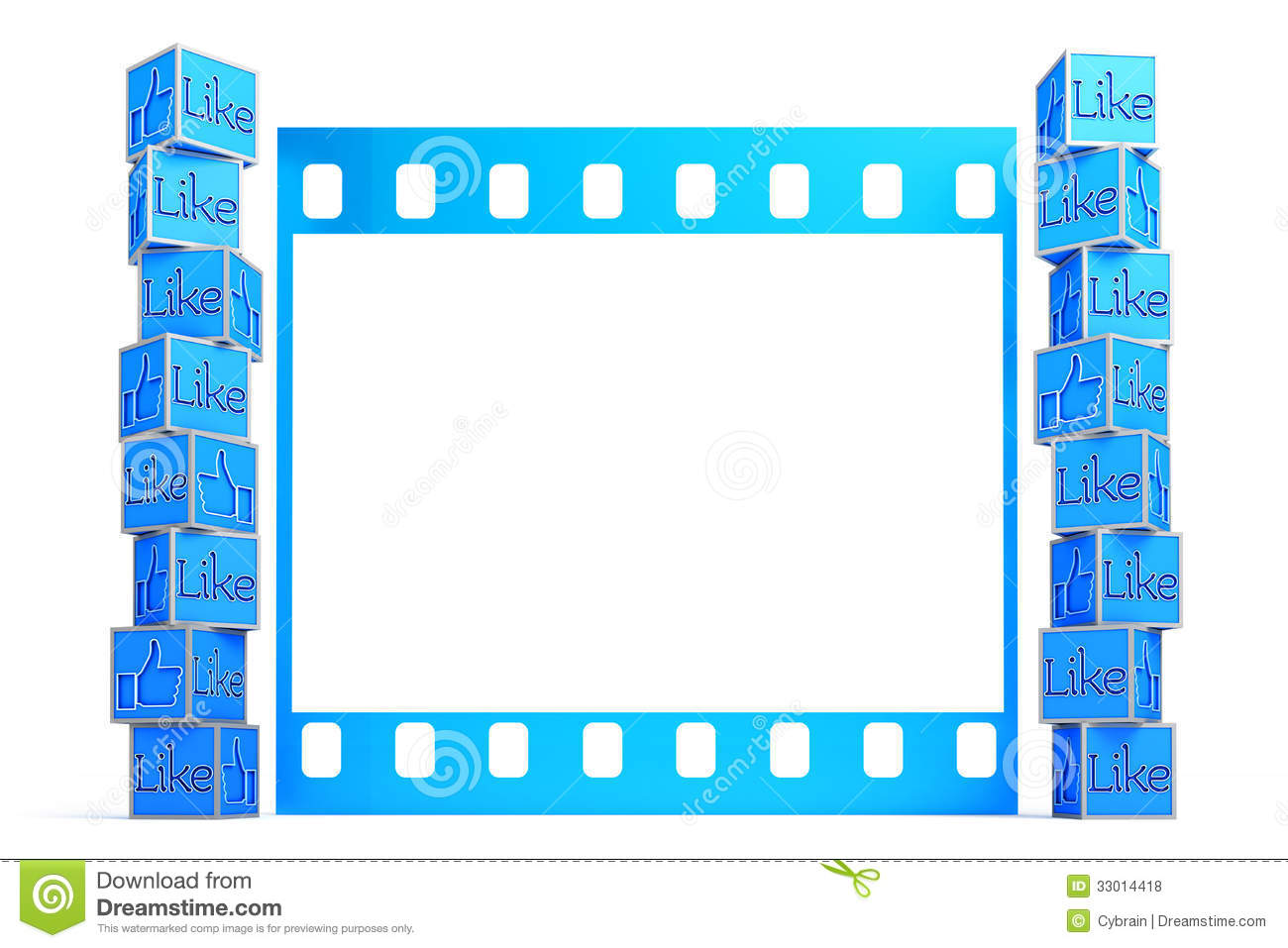 a collection of thumbs up in front of film frame template - Word Frame