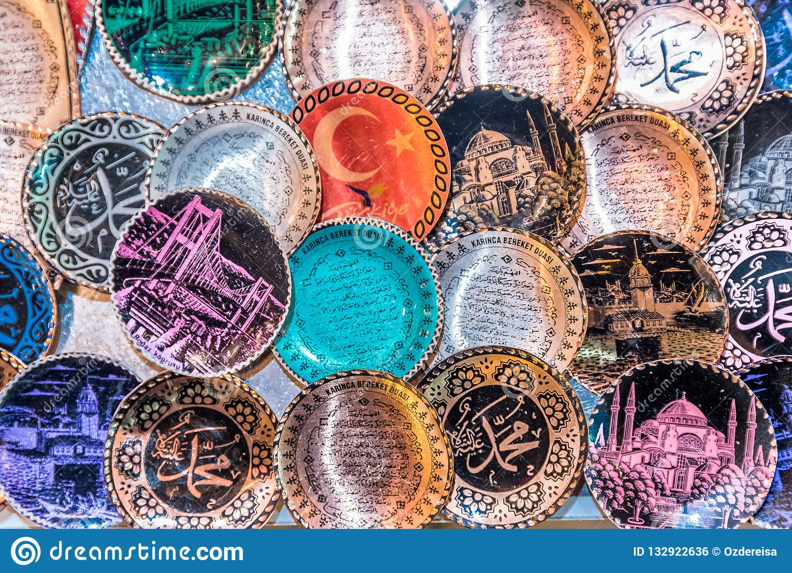 Traditional Turkish Ceramics On Sale At Grand Bazaar In Istanbul