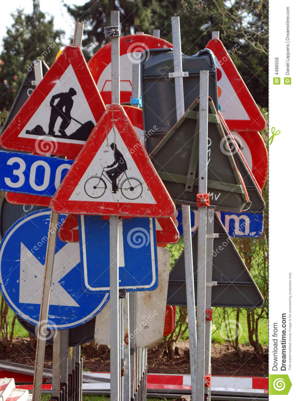 Collection of traffic signs