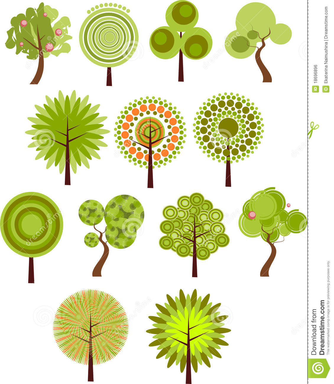Collection Of Tree Clip-art Royalty Free Stock Image - Image: 18696896