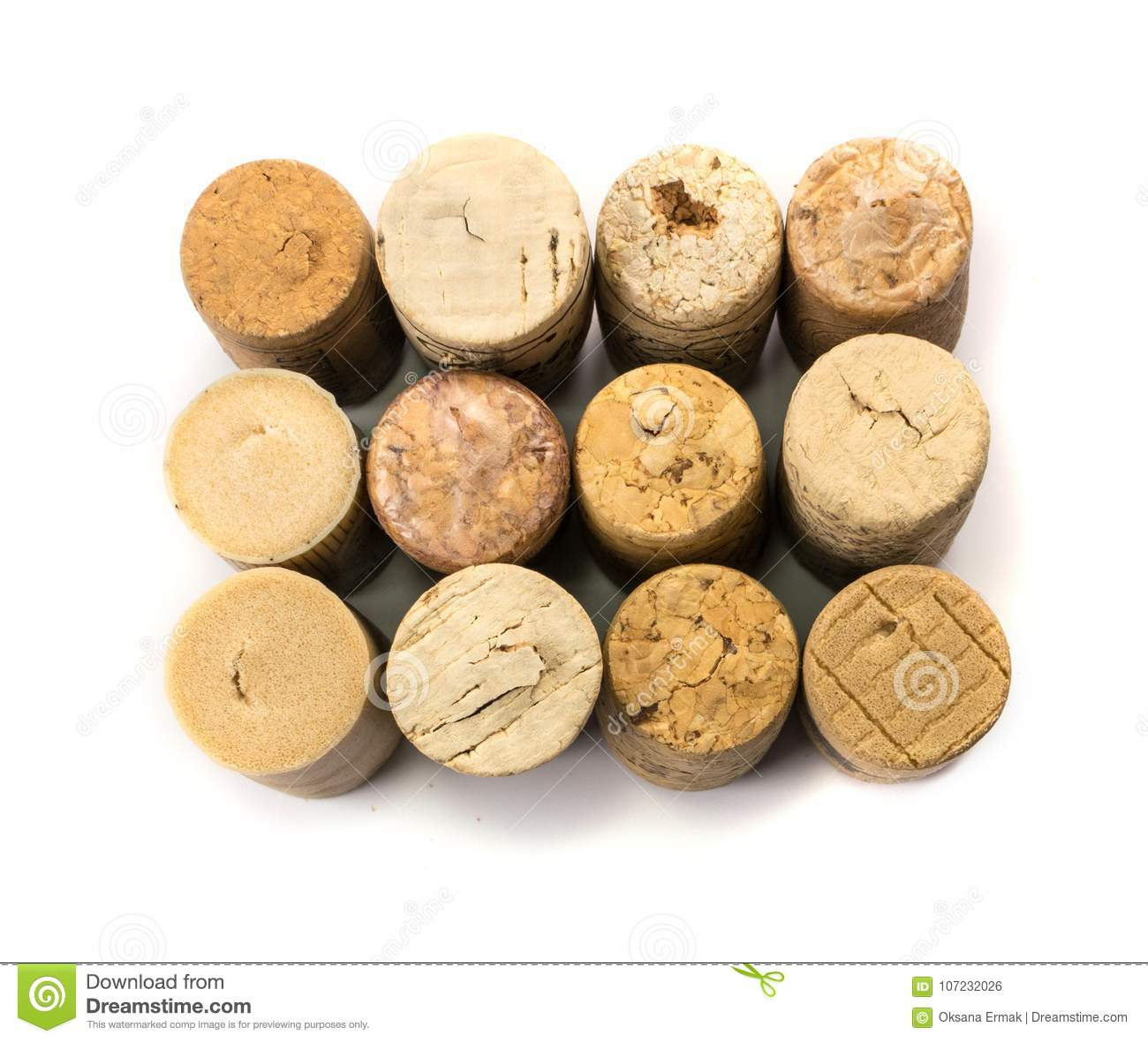 Collection of Used Wine Corks