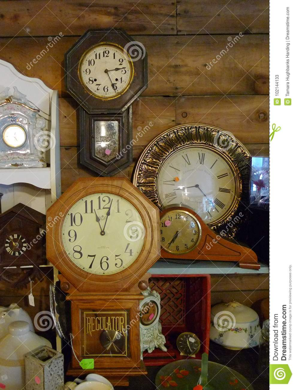 Antique Clocks Wall Clocks Mantel Clocks Collection Editorial