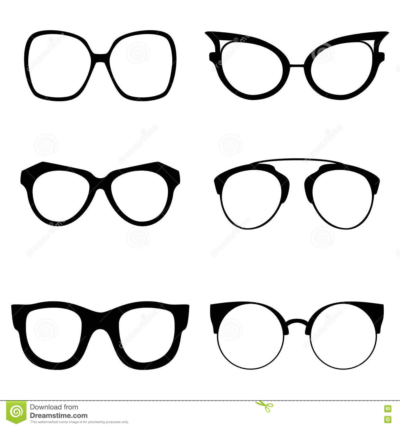 e9acadf8b26 Collection Of Various Glasses. To Be Worn By Women